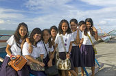 Eight Filipino School Girls — Stock Photo