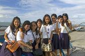 Eight Filipino School Girls — Stock Photo