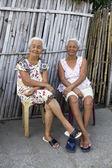 Two Elderly Filipino Women — Stock Photo