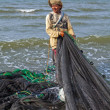 Filipino Net Fisherman — Stock Photo