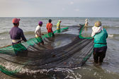 Filipino Fishermen Roxas City — Stock Photo