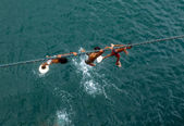 Ragazzi su una corda — Foto Stock