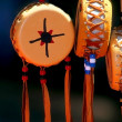 Native American Souvenir Drums — Stock Photo