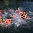 Girls Splashing Fun — Stock Photo #21257195