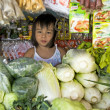 Filipino Girl at Market — Stock Photo