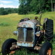 Stock Photo: Vintage Blue Tractor