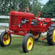 Antique Red Tractor — Stock Photo
