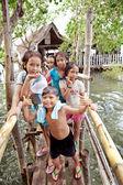 Filipino Children Going Swimming — Stock Photo