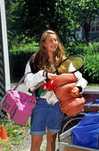 Girl Going To Summer Camp — Stock Photo