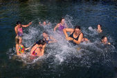 Girls Splashing Fun — Stock Photo