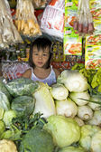Filipino Girl at Market — Stock Photo