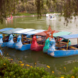 burnham park row boats — Stock Photo
