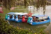 Burnham Park Row Boats — Stock Photo
