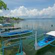 Stock Photo: Outrigger Boats on Lake Taal