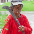 Stock Photo: Philippines - WomSmoking Cigarette
