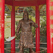 Bronze Statue Chinese Warrior — Stock Photo