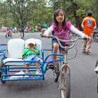 Stock Photo: Children Riding Bicycles