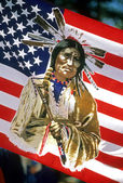 Native American Flag — Stock Photo