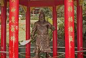 Guerriero cinese statua in bronzo — Foto Stock