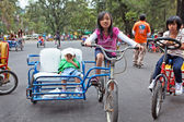 Children Riding Bicycles — Stock Photo