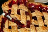 Cherry Pie With Lattice Crust — Stock Photo
