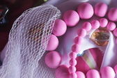 Pink beads — Stock Photo