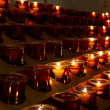 Candlelights in the cathedral - Stock Photo