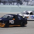 Stock Photo: Race cars at Homestead Miami Speedway