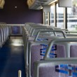 Stock Photo: Inside coach bus