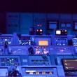 Control panels underground bunker — Stock Photo