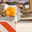 Construction blockade — Stock Photo
