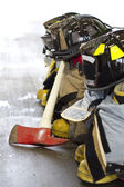Fireman bunker gear — Stock Photo