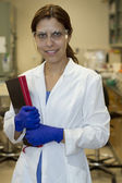 Young biologist chemist — Stock Photo