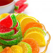 Colorful jelly candies — Stock Photo