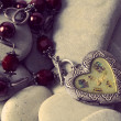 Vintage  silver locket — Stock Photo