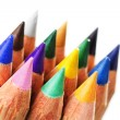 Stock Photo: Colorful sharpened pencils