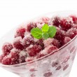 Zdjęcie stockowe: Cranberry dessert isilated on white background