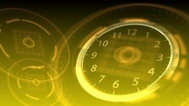 10 seconds to 12 - Hi-tech Clock 88 (HD) — Stock Video