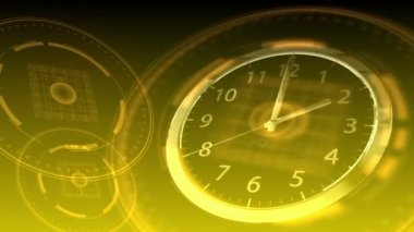 Time Flies - Hi-tech Clock 90 (HD) — Stock video