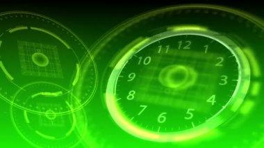 10 seconds to 12 - Hi-tech Clock 91 (HD) — Stock Video
