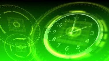 Time Flies - Hi-tech Clock 93 (HD) — ストックビデオ
