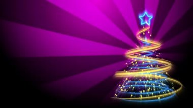 Christmas Tree Background - Merry Christmas 73 (HD) — Stock Video