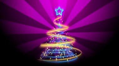 Christmas Tree Background - Merry Christmas 70 (HD) — Stock Video