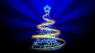 Christmas Tree Background - Merry Christmas 69 (HD) — Wideo stockowe