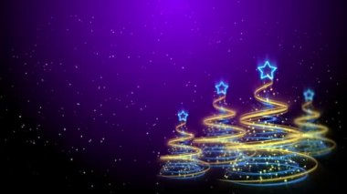 Christmas Trees Background - Merry Christmas 63 (HD) — Stock Video