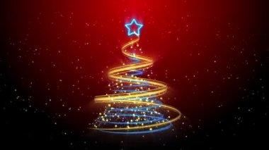 Christmas Tree Background - Merry Christmas 57 (HD) — Stock Video