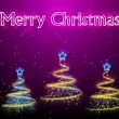 Christmas Trees Background - Merry Christmas 46 (HD) - Stock Photo