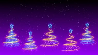 Christmas Trees Background - Merry Christmas 41 (HD) — Stock Video