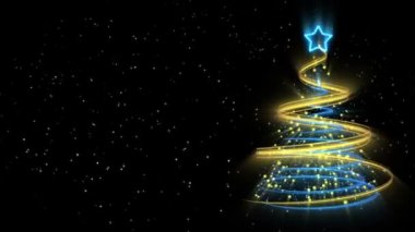 Christmas Tree Background - Merry Christmas 52 (HD) — Vídeo stock
