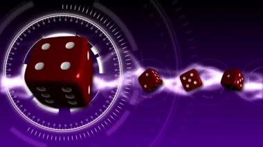 Casino Dice Background - Casino 19 (HD) — Wideo stockowe